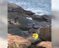 海邊遇外拍 攝影師視角見神秘肉色