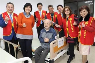 基隆扶輪社聯合捐手動床給仁愛之家 使長輩更有意願活動筋骨