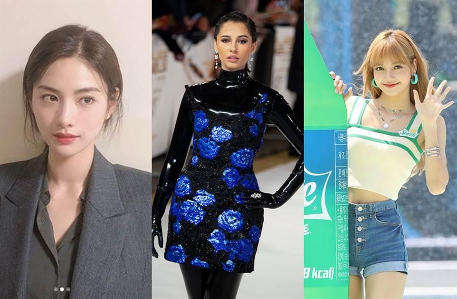 NaNa、娜歐蜜史考特、Blackpink的Lisa列為最美臉蛋前十名。(圖/翻攝自jin_a_nana IG;達志影像)