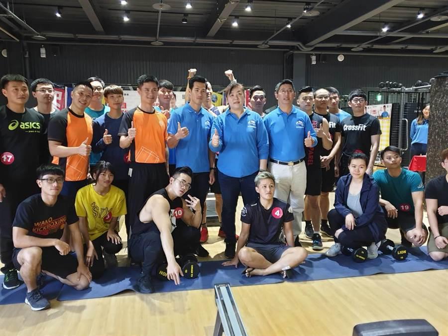 品瑞國際舉行第二屆品瑞PINRAY一起拼了綜合體能賽,中部以北的朋友熱情參與。(馮惠宜攝)