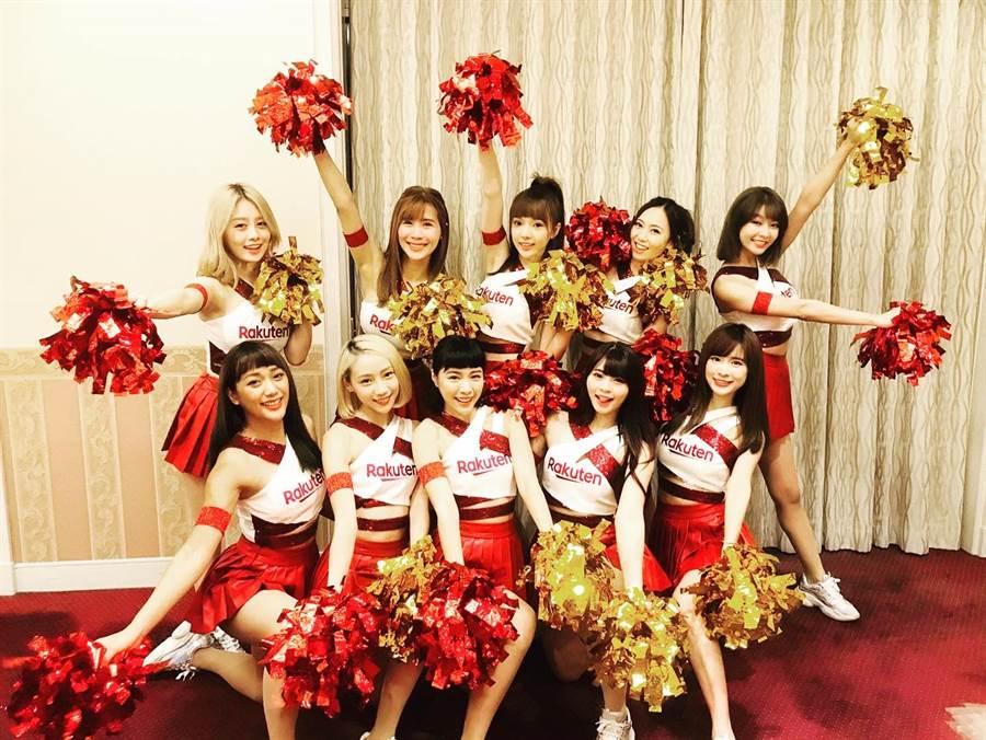 Rakuten Girls受邀前往日本東京Rakuten集團納會Noukai擔任表演嘉賓。(樂天桃猿提供/鄧心瑜傳真)