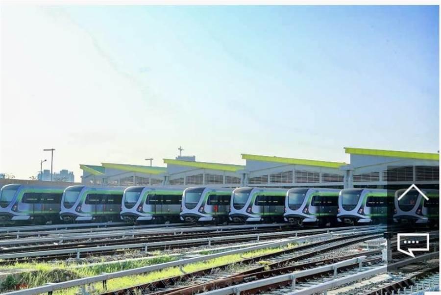 台中市第一條捷運綠線明年底將全線通車,早已吸引很多建商獵地推案。(盧金足攝)