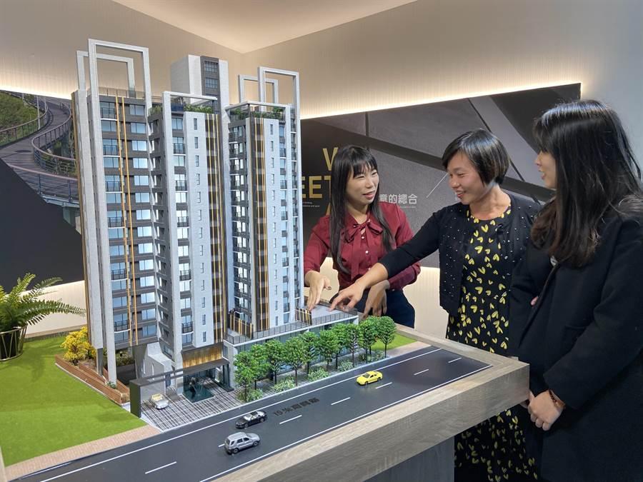 「誠總V建築」獲市場青睞,雖在一級戰區仍是熱銷指標建案。(盧金足攝)