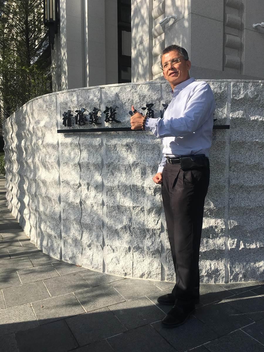 精湛建設董事長陳志聲喜迎2020年,交出2019年的成績,推出客製化頂級商辦「寶元紀商業大樓」。(盧金足攝)