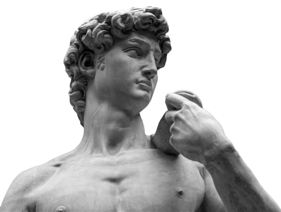 米開朗基羅的傑作「大衛像」明顯看到頸部的青筋(靜脈)。(圖/shutterstock)