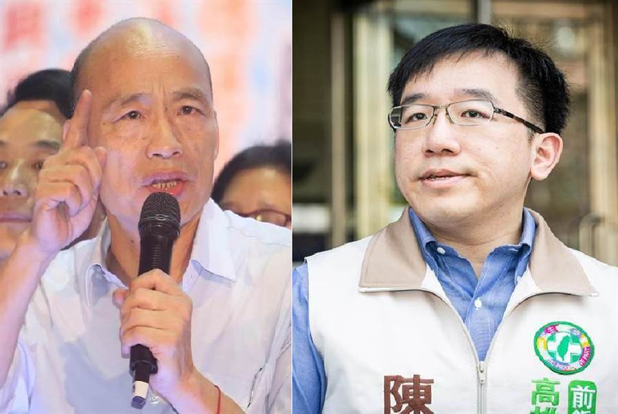 國民黨總統候選人、高雄市長 韓國瑜(左)、民進黨高雄市議員陳致中(右)。(圖/合成圖,本報資料照)