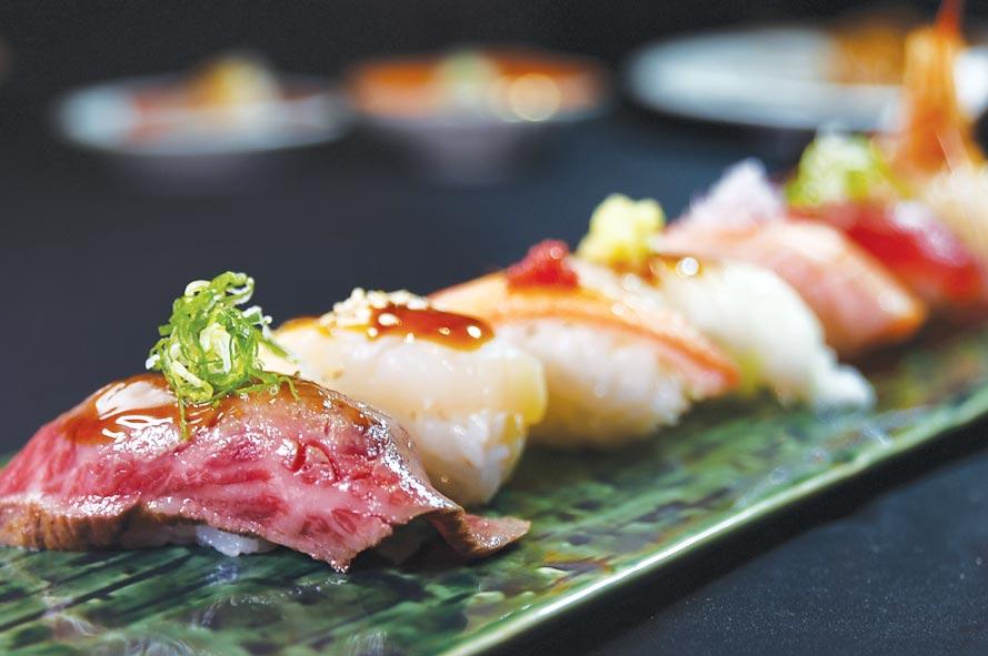 在〈旭集〉可以嘗到廚師現做的各式握壽司。圖/姚舜