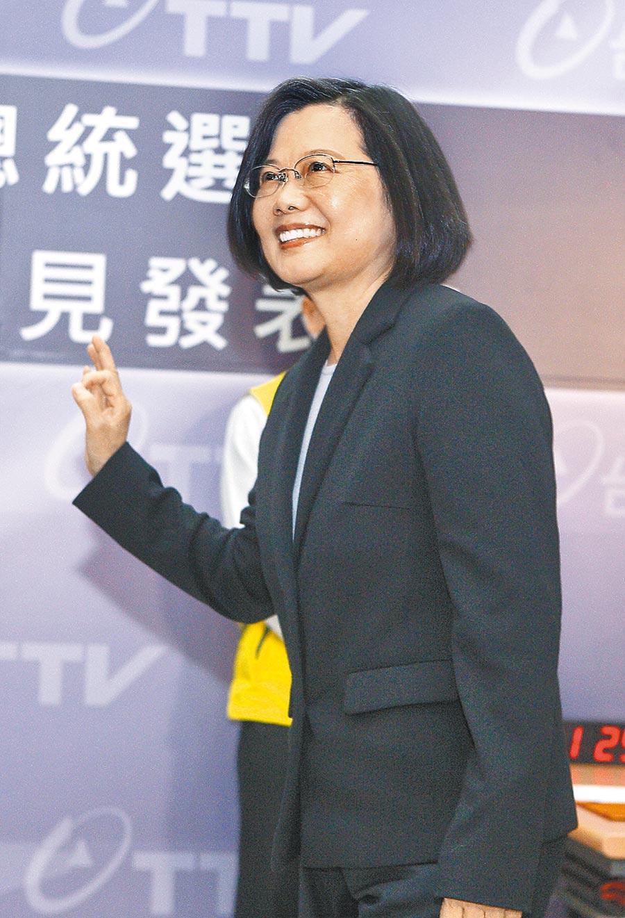 民進黨總統候選人蔡英文(張鎧乙攝)