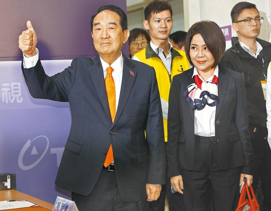 親民黨總統候選人宋楚瑜(張鎧乙攝)