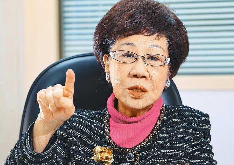前副總統呂秀蓮27日在臉書直播節目表示,《反滲透法》容易造成更多冤錯假案,不能輕率立法。(本報資料照片)