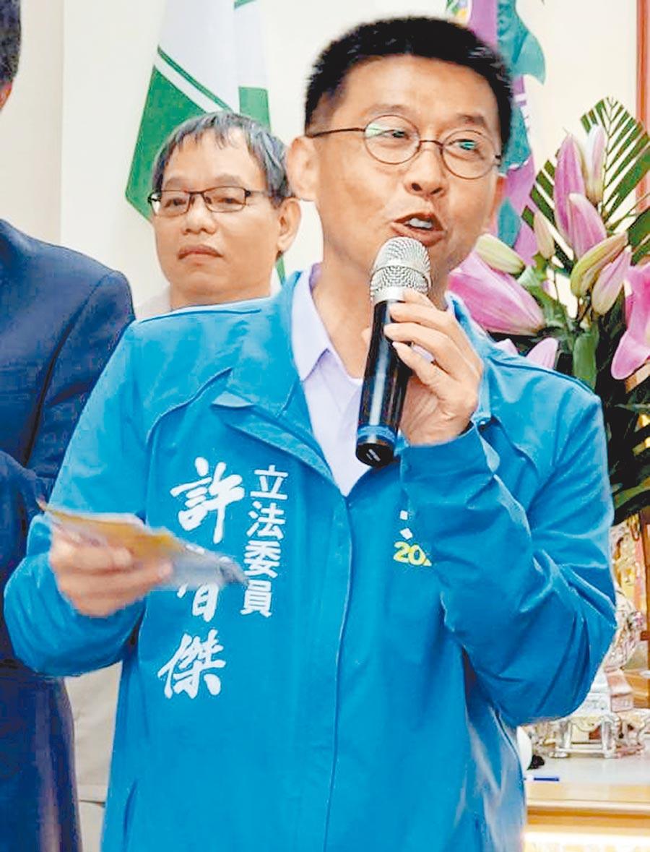 民進黨立委候選人許智傑(劉宥廷攝)