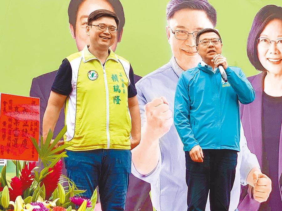民進黨立委候選人賴瑞隆(左)(本報資料照片)