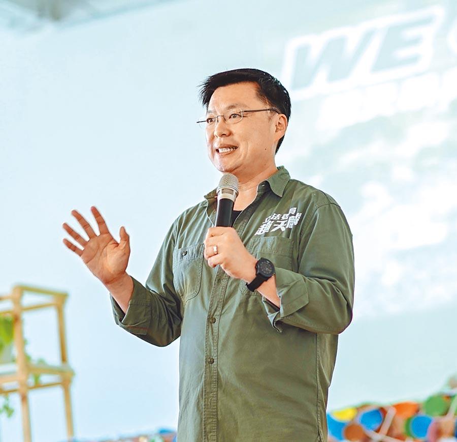 民進黨立委候選人趙天麟(曹明正攝)