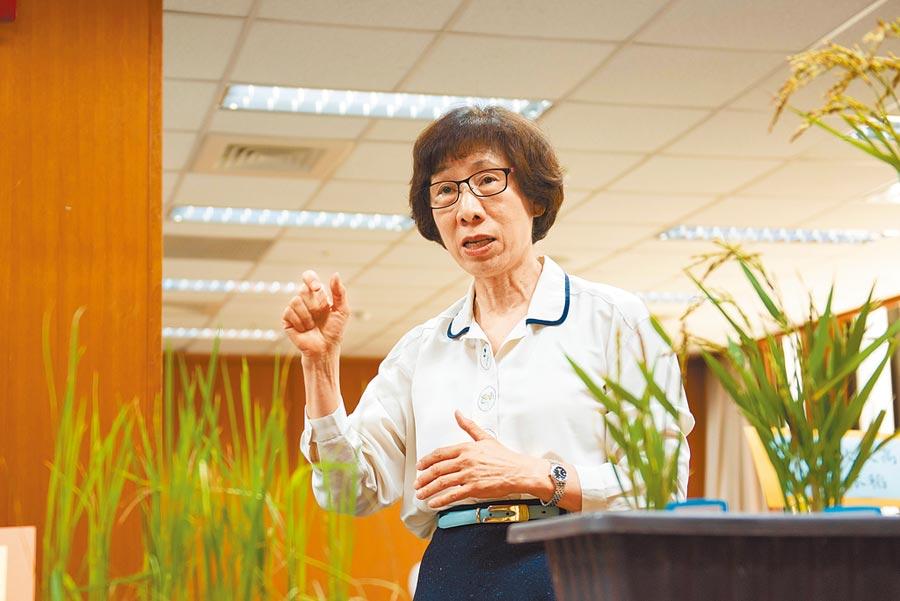 中研院院士余淑美是台灣的「水稻教母」,投入水稻研究超過30年。(中研院提供/李侑珊台北傳真)
