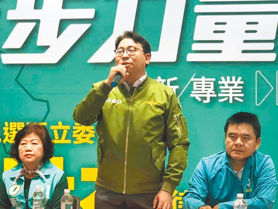 民進黨立委候選人黃世杰。(呂筱蟬攝)