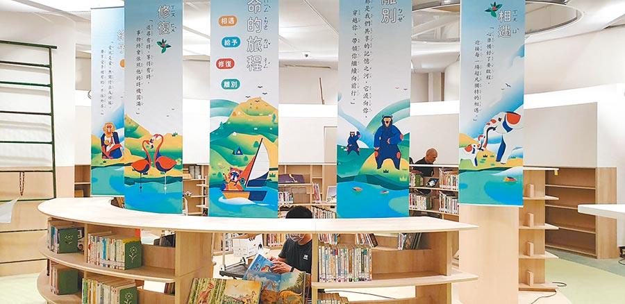 新竹市圖書館動物園分館將於28日與動物園同時盛大開幕。(新竹市政府提供/陳育賢新竹傳真)