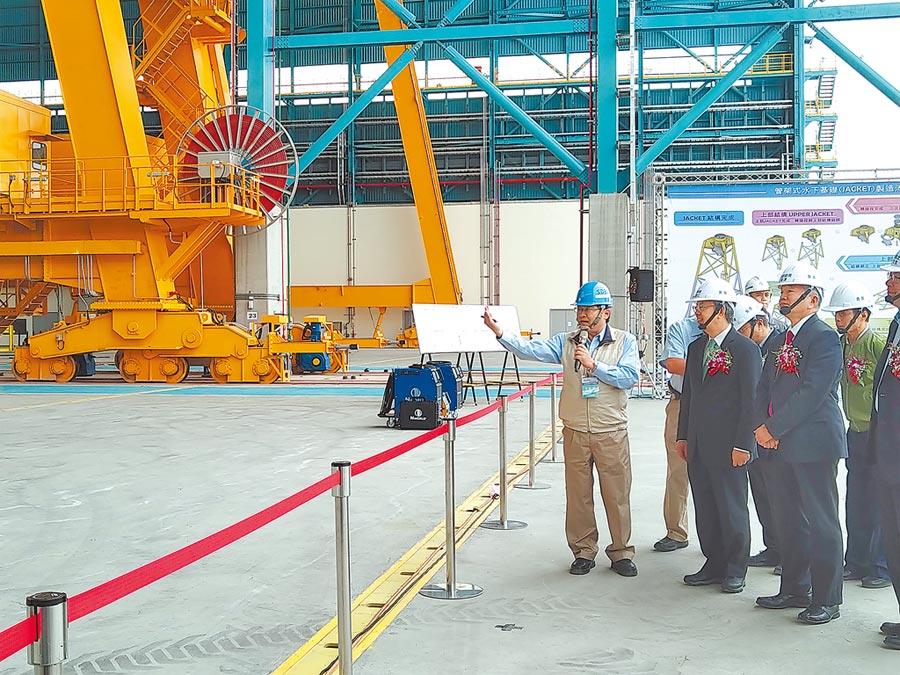 興達海基廠區占地約27.5公頃,預計明年初正式投產。(林雅惠攝)