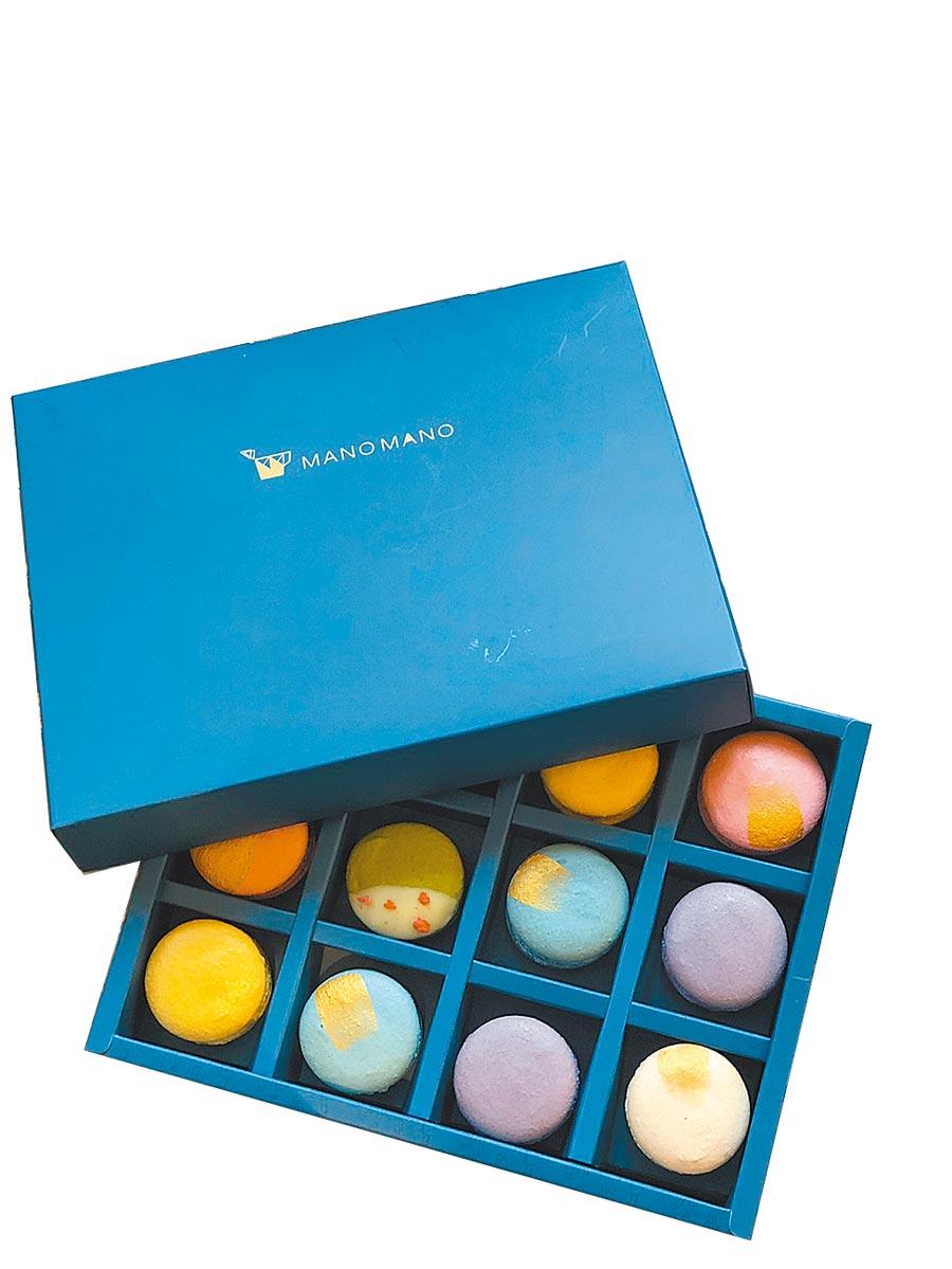 Global Mall與新竹法式手工甜點MANO MANO「繽紛馬卡龍禮盒」,售價799元,預購價750元。(Global Mall提供)