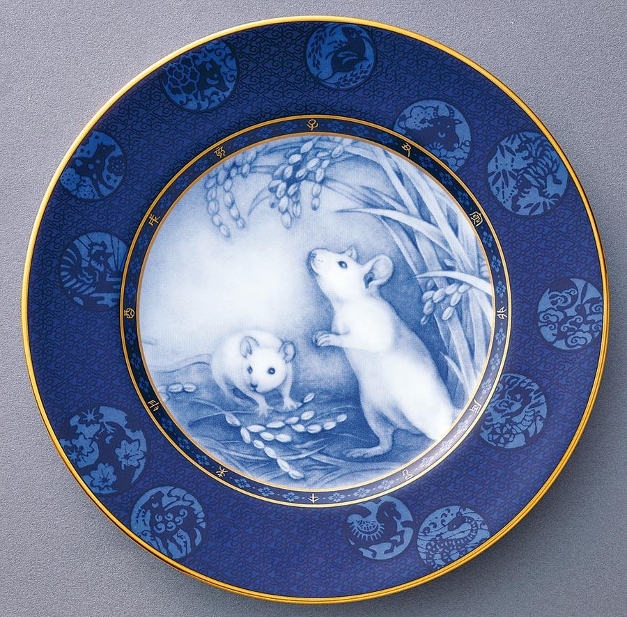 Noritake 2020年鼠來寶紀念盤,7600元。(旺代提供)