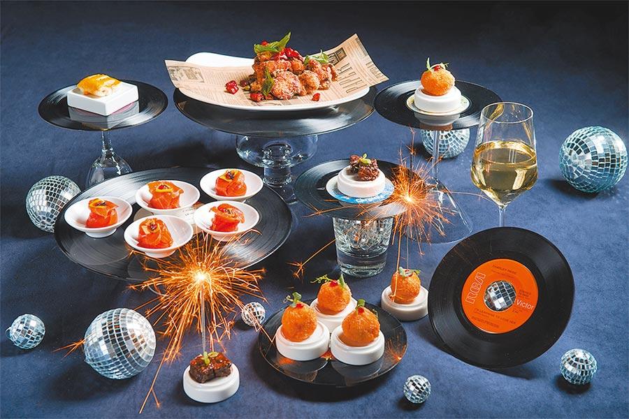 In Between之間餐廳推出迷樂光跨年倒數派對,餐點及飲品無限量供應。(誠品行旅提供)