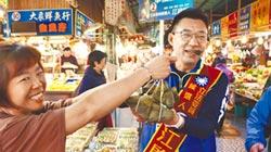 台中選區 藍綠選將 周末狂掃菜市場催票