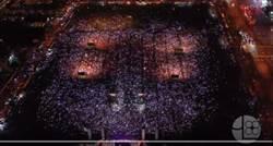 韓國瑜台中造勢星光遍地 最美夜景