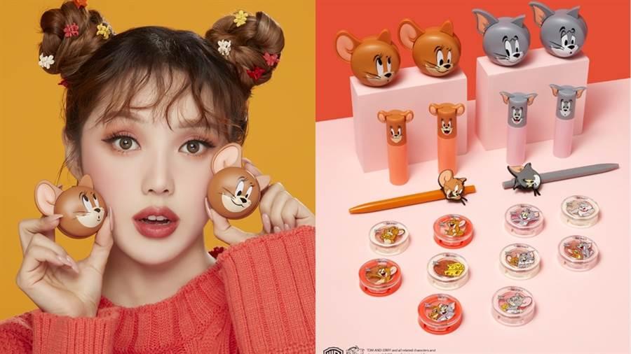 美妝迷最期待各家品牌推出新年限定包裝了,ETUDE HOUSE這次特別找來鼠界的扛霸子傑利鼠站台,帶著湯姆貓和大家一起歡慶鼠年!(圖/品牌提供)