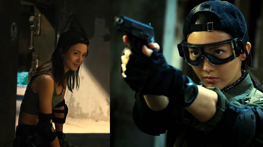 大陸女星金晨突破自我挑戰出演警匪電影《特警隊》。(圖/摘自微博@金晨)