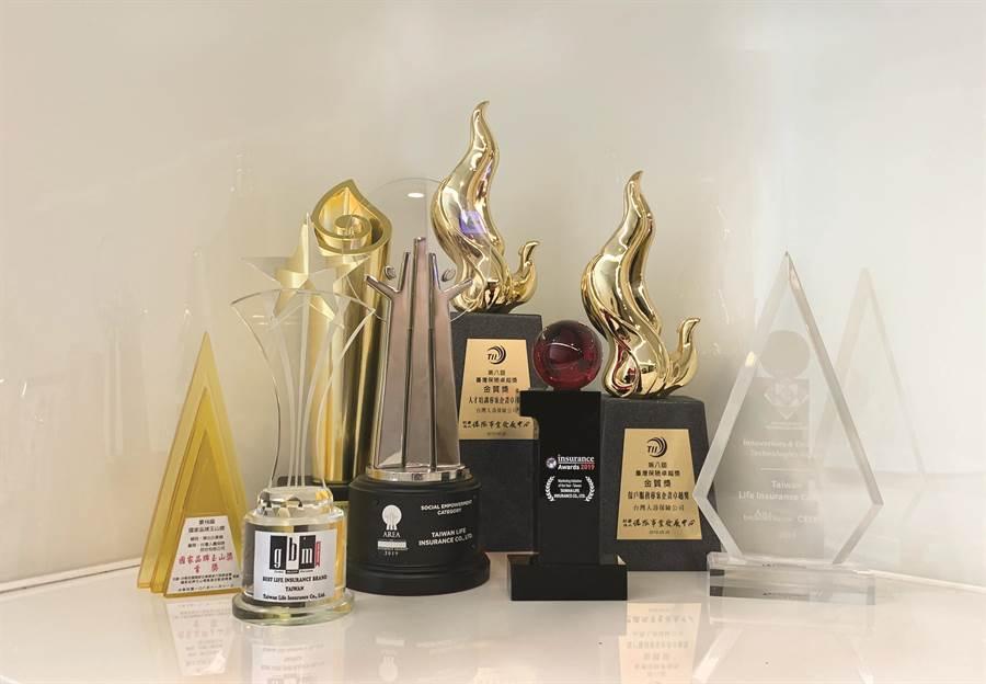 台灣人壽獲獎連連,2019年已榮獲45個國內外大獎。(台壽提供)