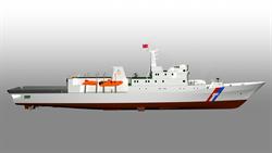 海巡火力最強千噸巡防艇開工 配備鎮海火箭