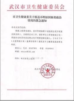 武漢出現肺炎群聚 專家:若是SARS憂與流感混淆