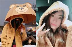 謝金燕桃園跨年超神祕!變身泰迪熊賣萌裝可愛