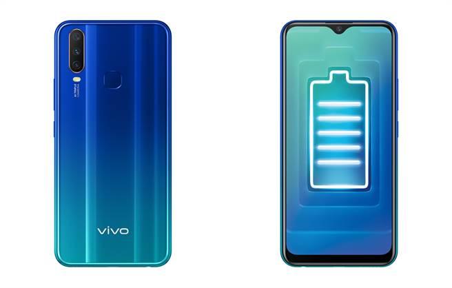 vivo Y12內建5000mAh大電量,搭配亞太資費方案0元起。(vivo提供/黃慧雯台北傳真)