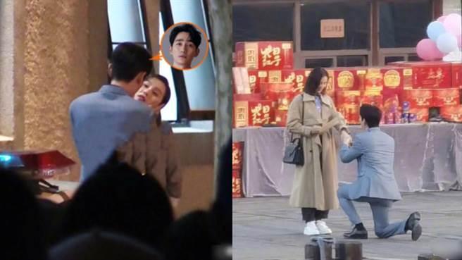 劉詩詩新劇《親愛的自己》恰好近期拍到求婚戲碼。(圖/摘自微博@娱乐揭秘蜀黍)