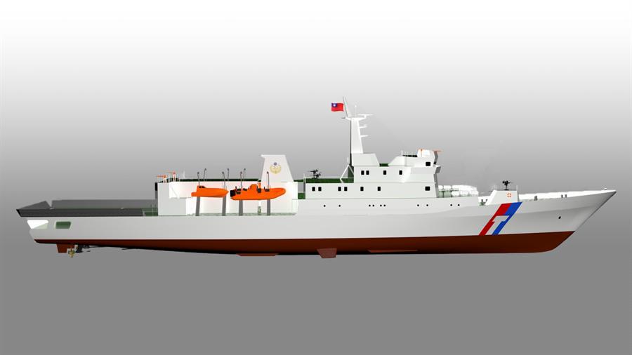 海巡署新建6艘千噸級巡防艦,將配備中科院研發鎮海火箭系統,將成為火力最強大巡防艦。(艦隊分署提供)