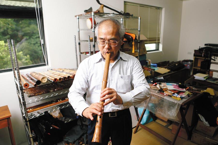 第21屆國家文藝獎音樂類得主音樂家陳中申表示,音樂必須要有國籍,也就是表現出本土性。(鄧博仁攝)