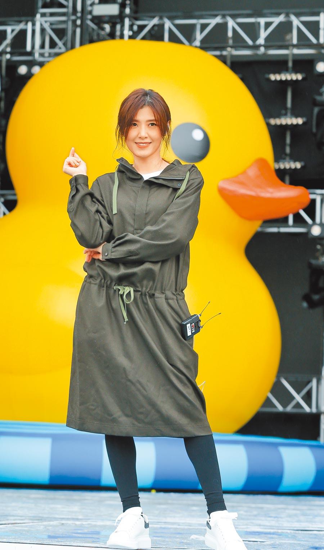 蘇慧倫昨為「臺北最High新年城─2020跨年晚會」演出彩排。(盧禕祺攝)