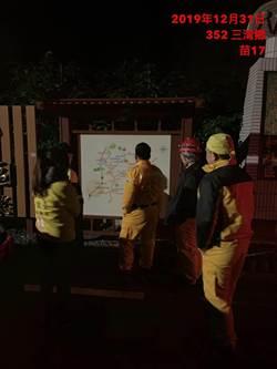 7旬翁摔竹林失溫 頭份警凌晨救援