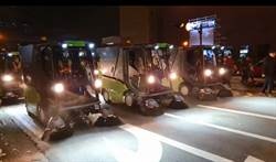 6掃街車、600志工 1小時恢復北市跨年街道