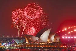吸金1.3億美元 雪梨煙火照放