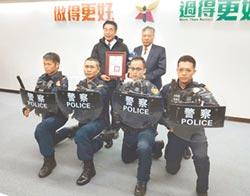 保護警察 力大螺絲捐320面透明圓盾