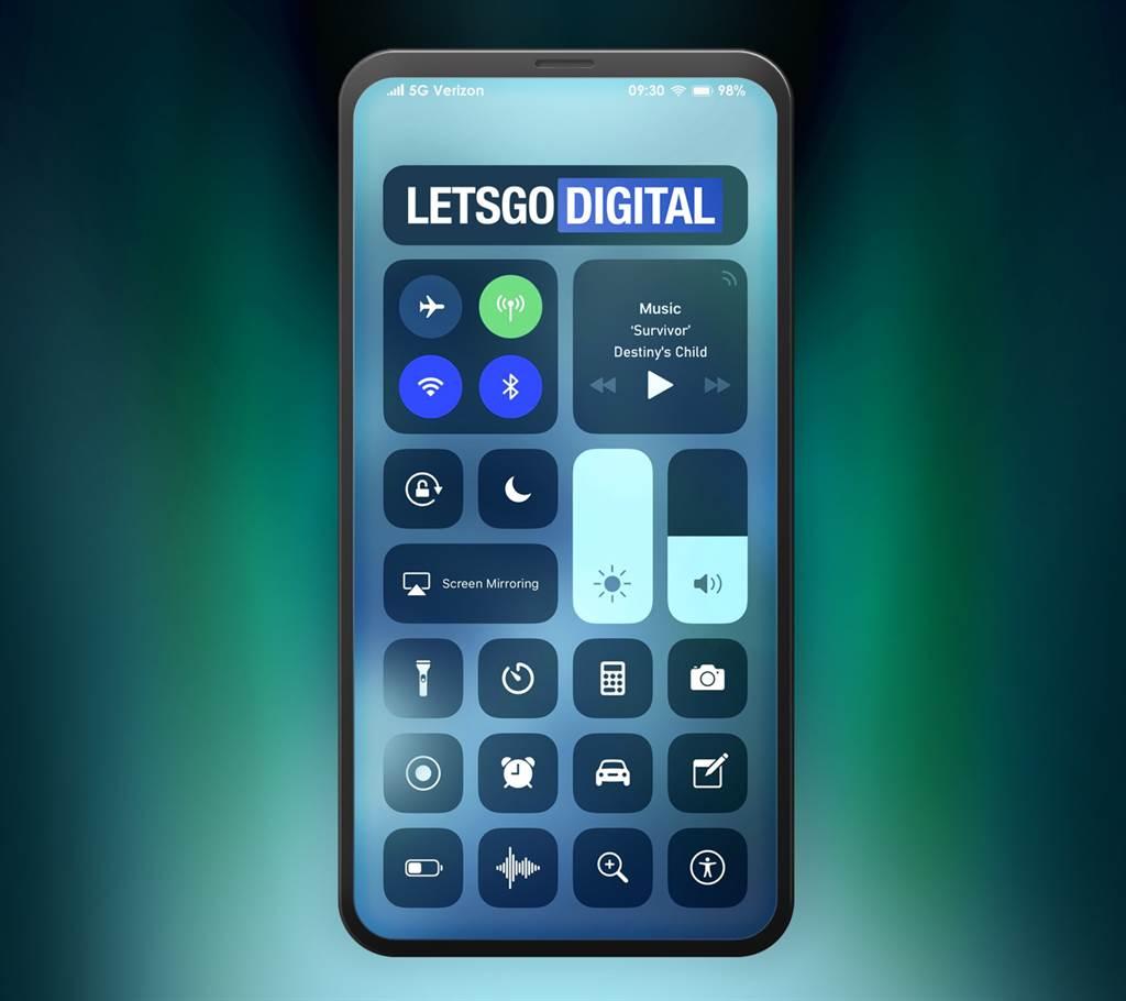 法國媒體報導「無瀏海」iPhone有機會在 2020 年推出。(摘自LetsGoDigital)