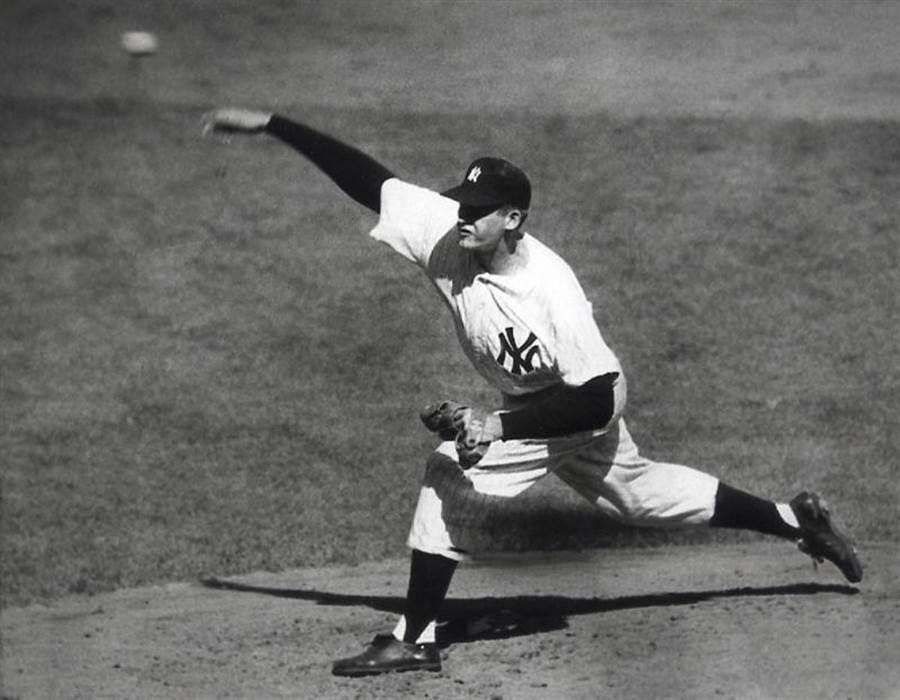 拉森在1956年洋基與道奇的世界大賽中,投出完全比賽,是大聯盟史上唯一一人。(美聯社資料照)
