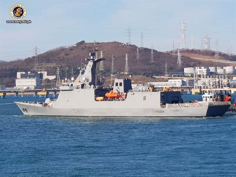 菲律賓首艘飛彈巡防艦何塞•黎薩爾號。(圖/菲律賓海軍)