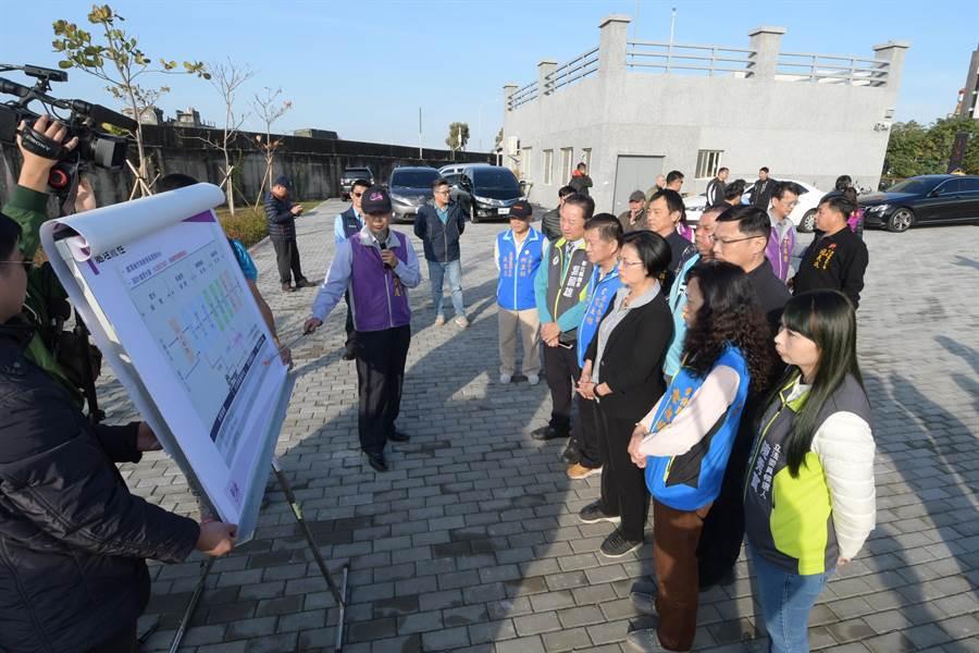 彰化縣府執行「鹿港溪風華再現計畫」,改善水質重要的礫間曝氣處理場正式完工啟用。(吳敏菁攝)