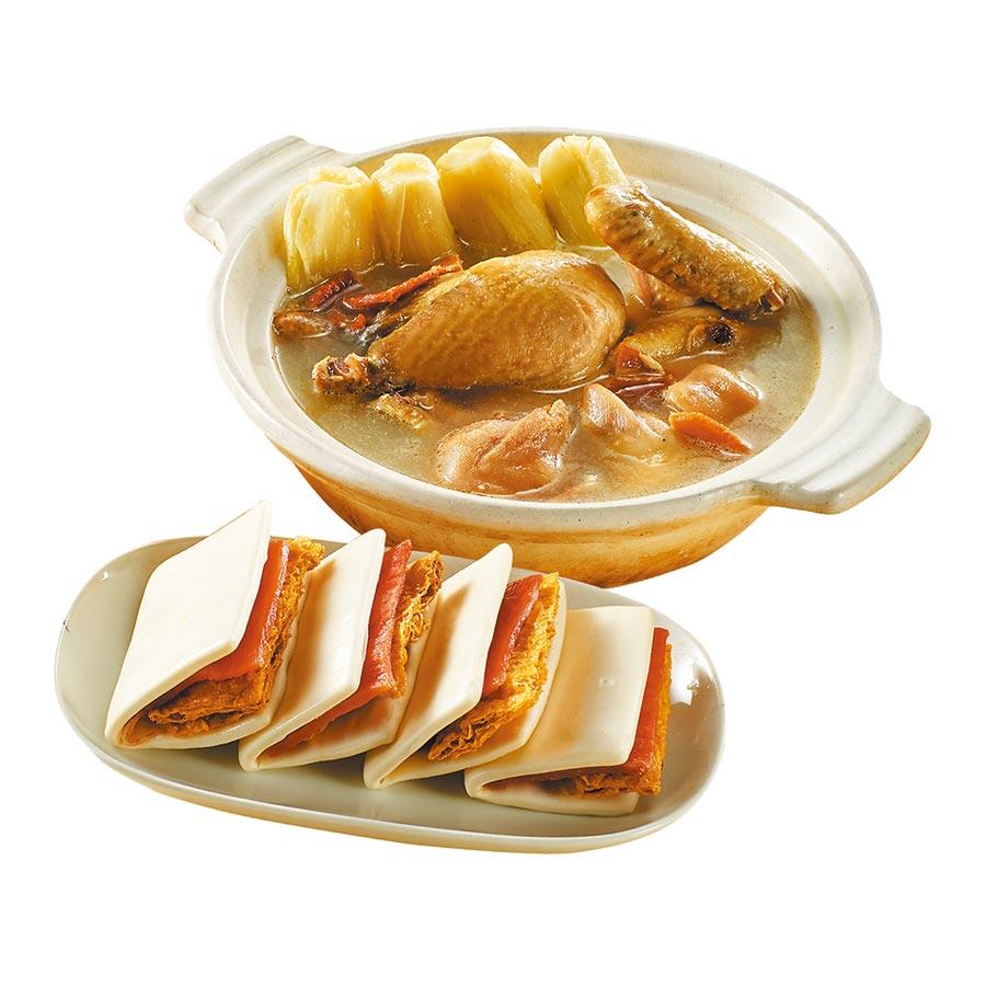 新光三越年菜預購季軍「逸湘齋」富貴無雙組,今年初登場,每份888元。(新光三越提供)