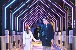 台灣燈會璀璨台中 允將建設惠中橋放閃光雕藝術