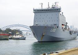 澳洲野火肆虐 軍艦、直昇機出動救援