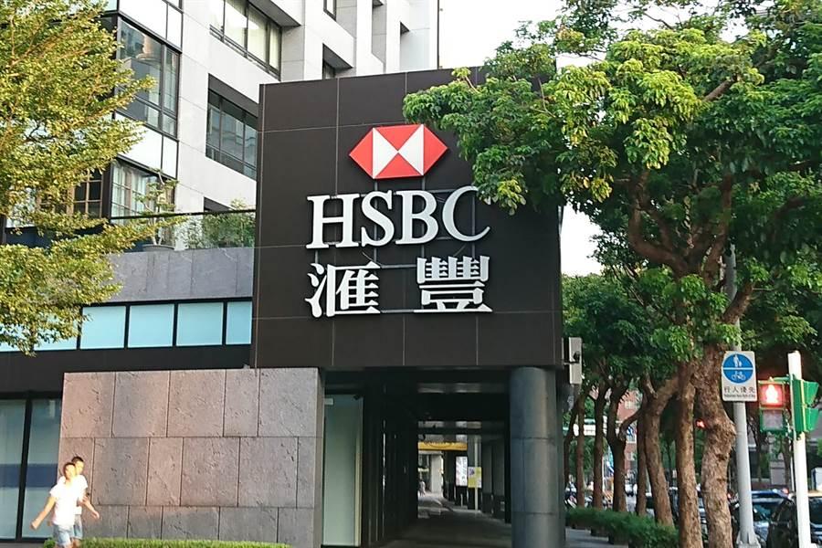 匯豐銀行。(記者林資傑攝)