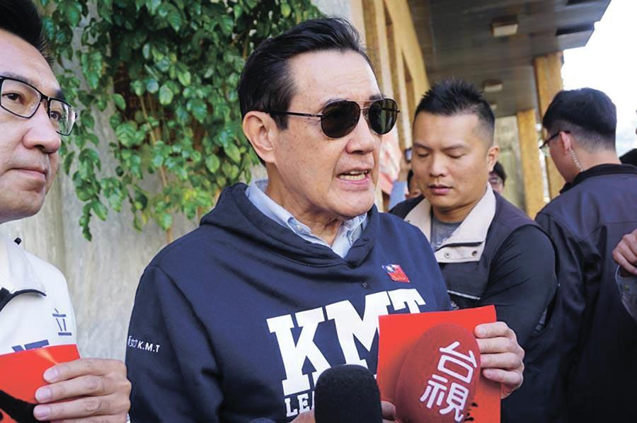談到反滲透法,前總統馬英九直指蔡英文「不是為了反中共滲透,而是對付自己的國人」。(王文吉攝)
